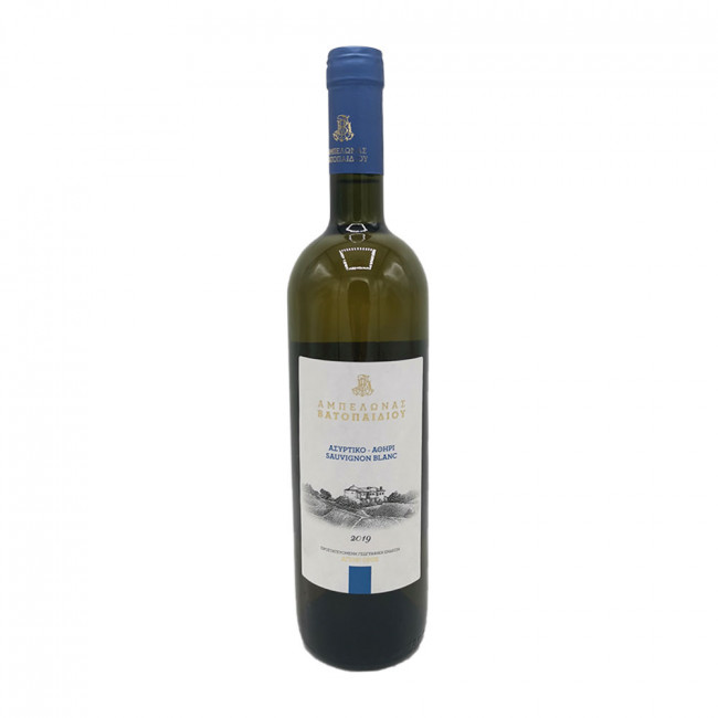Vin manastiresc Via Vatopedului - Vin alb sec, Assyrtiko Athiri-Sauvignon Blanc, an 2019